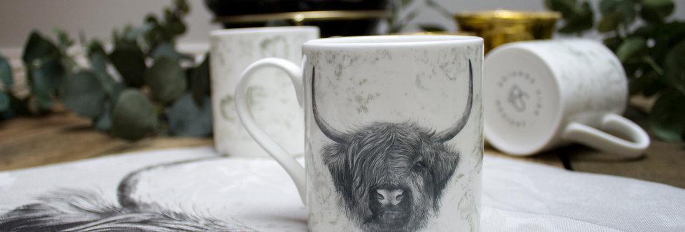 Highland Cow Bone China Mug