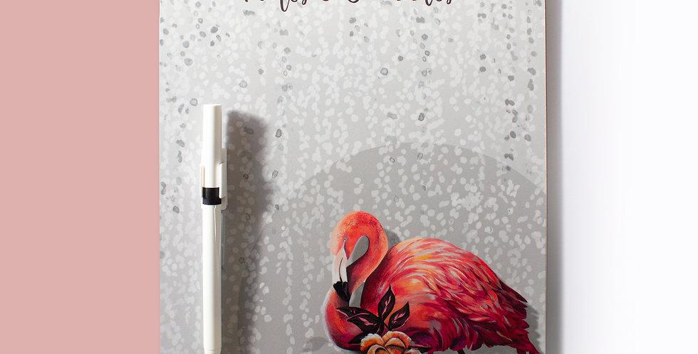 Memo Board - Sundown Flamingo