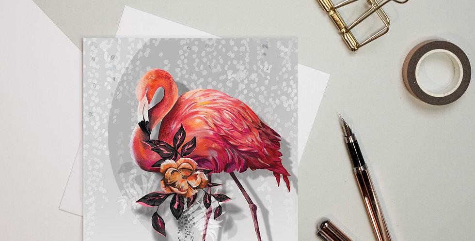 Greeting Card - Sundown Flamingo | Rhianne Siân Designs