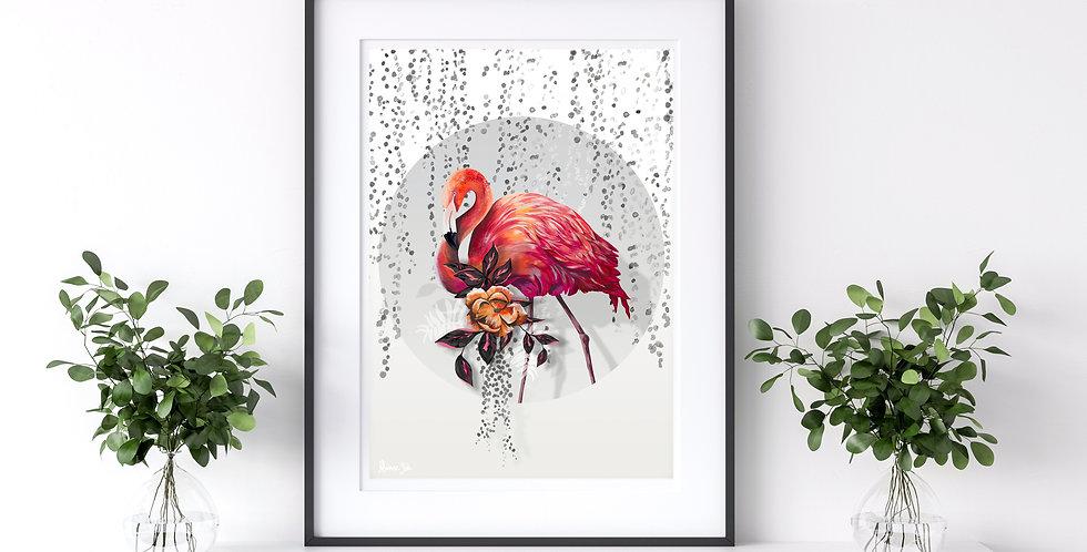 Sundown Flamingo   Rhianne Siân Designs