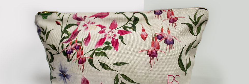 Fuchsia Floral Wash Bag