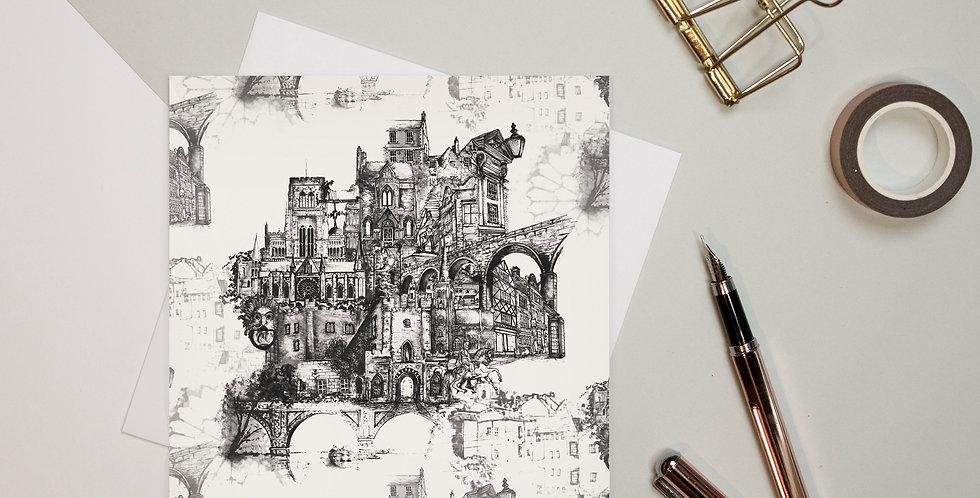 Greeting Card - Durham   Rhianne Siân Designs