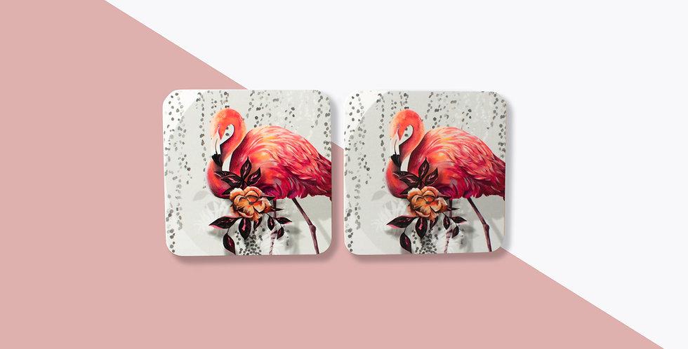 Coaster Set (4) -Sundown Flamingo