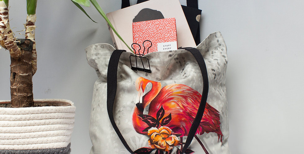 Sundown Flamingo Tote Bag