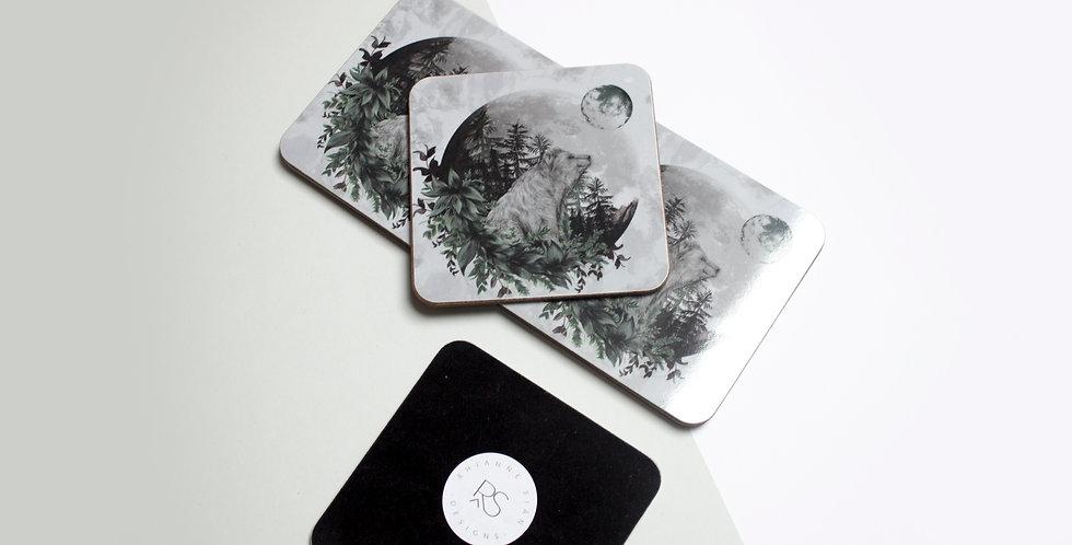 Coaster Set (4) -Luna Bear
