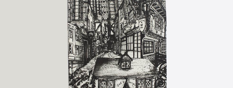 York City Illustration Tea Towel