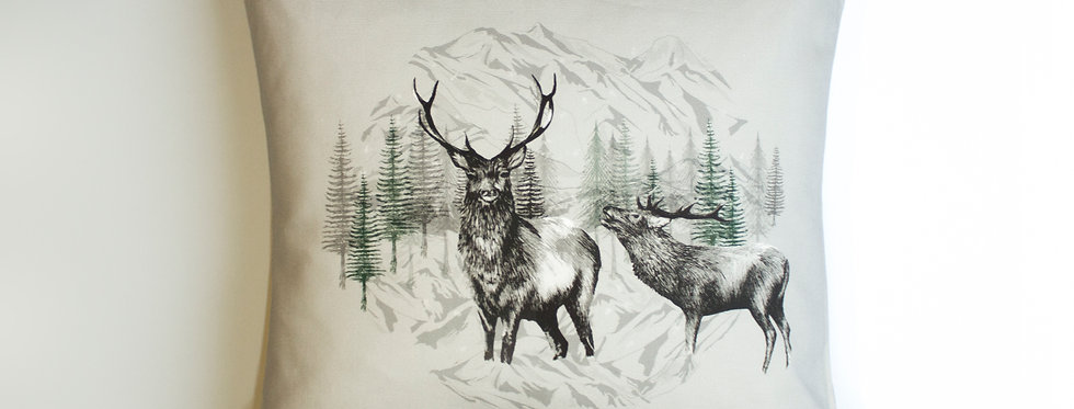 Highland Deer Cushion