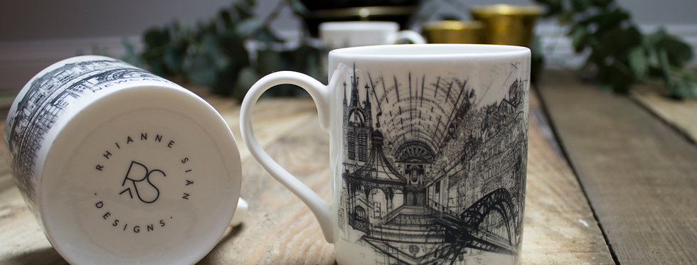 Newcastle Upon Tyne Bone China Mug