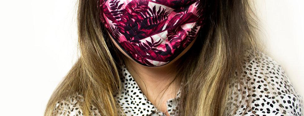 Tropical Reusable Face Mask Pink