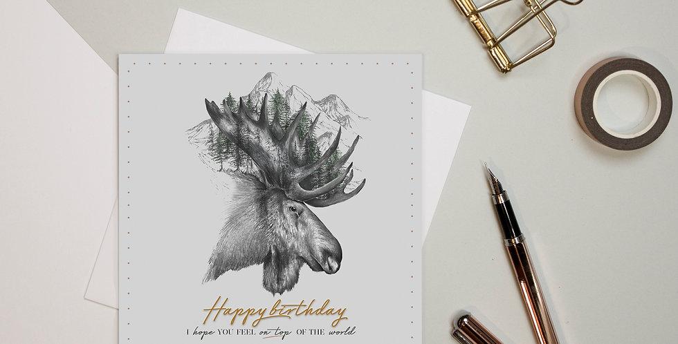 Greeting Card - Moose Mountain Happy Birthday | Rhianne Siân Designs