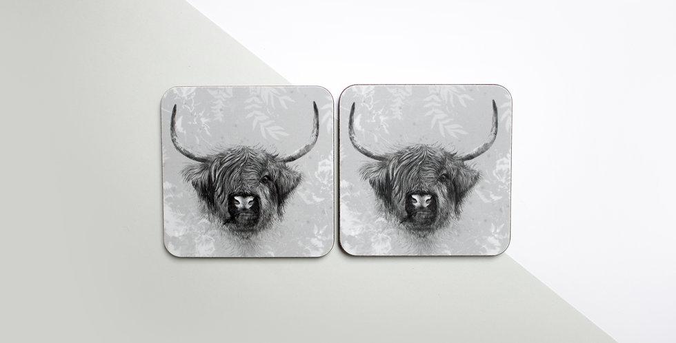 Coaster Set (4) - Highland Cow