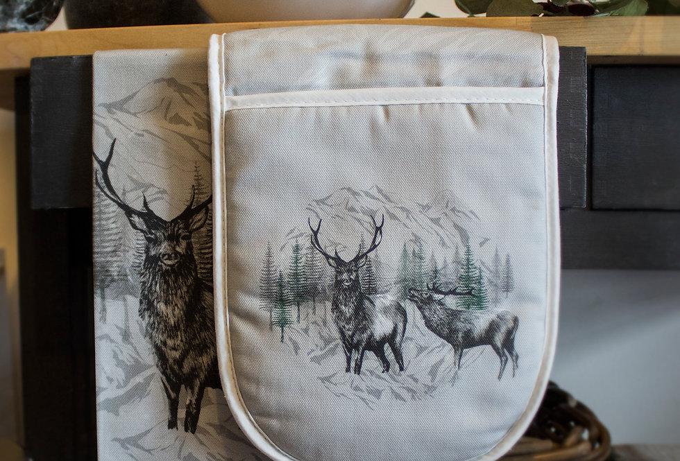 Highland Deer Luxury Oven Gloves