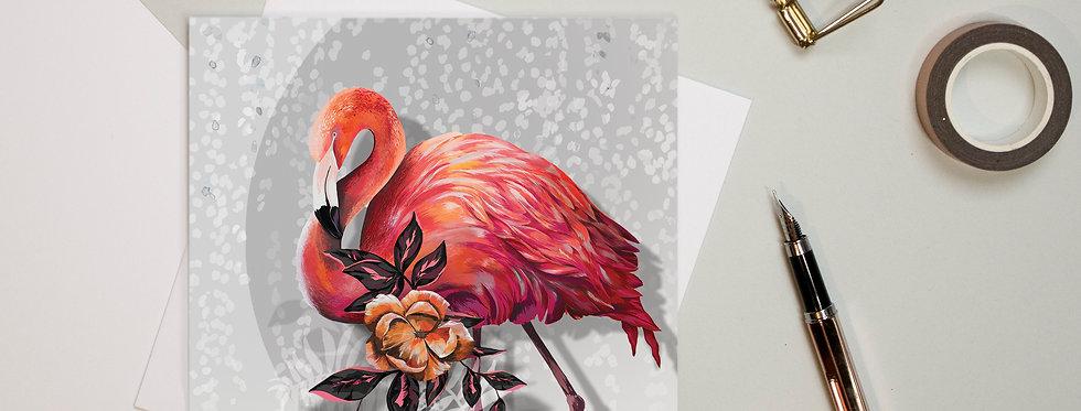 Sundown Flamingo Illustrated General Card