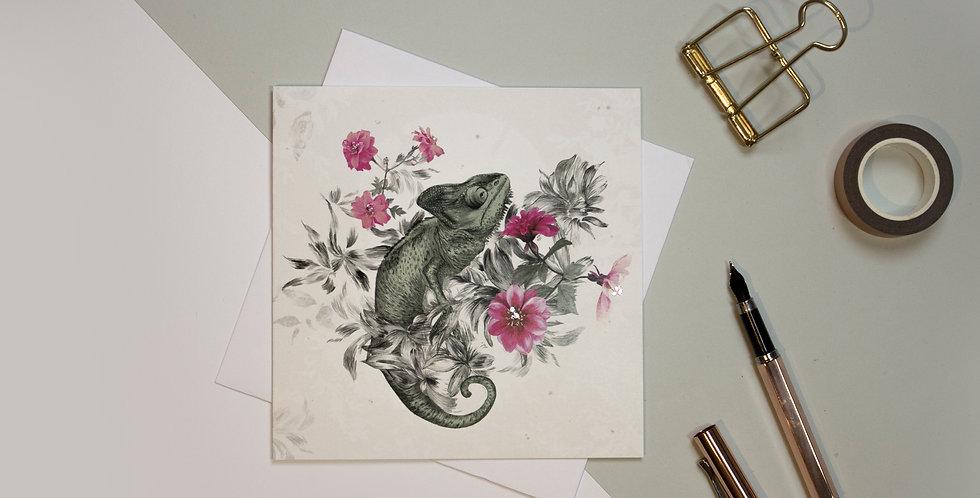 Greeting Card - Chameleon | Rhianne Siân Designs