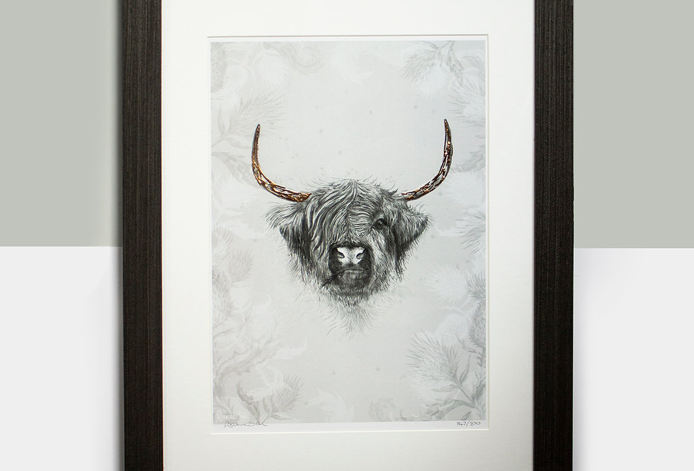 Highland Cow & Thistle Limited Edition (Mount Only)