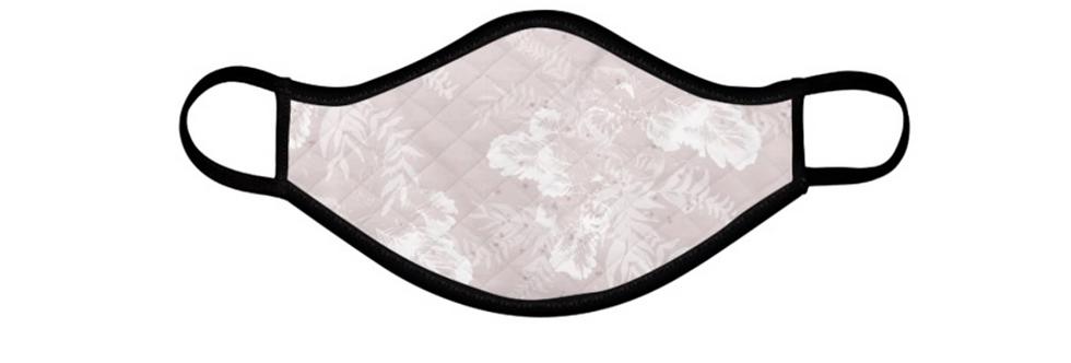 Light Pink Fern Reusable Face Mask