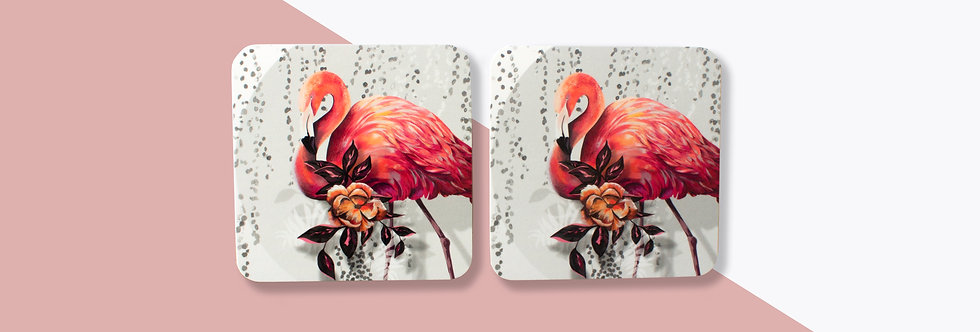Sundown Flamingo Coaster Set (4)