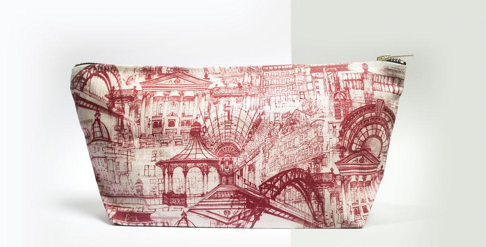 Zip Bag - Newcastle Pink   Rhianne Siân Designs