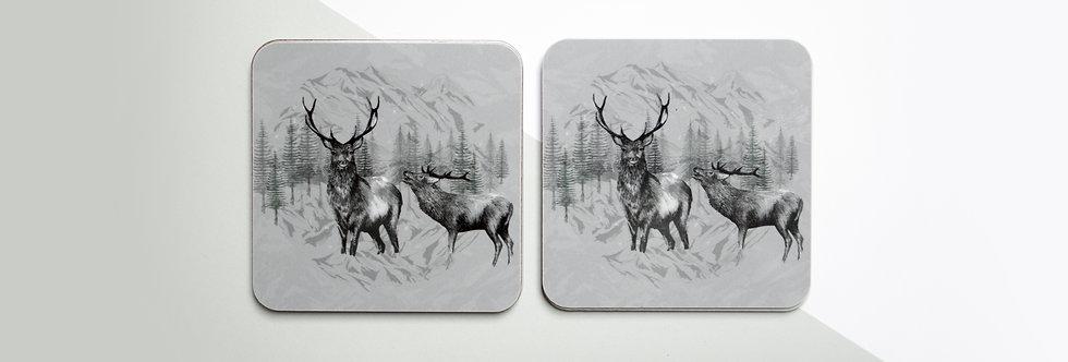 Highland Deer Coaster Set (4)