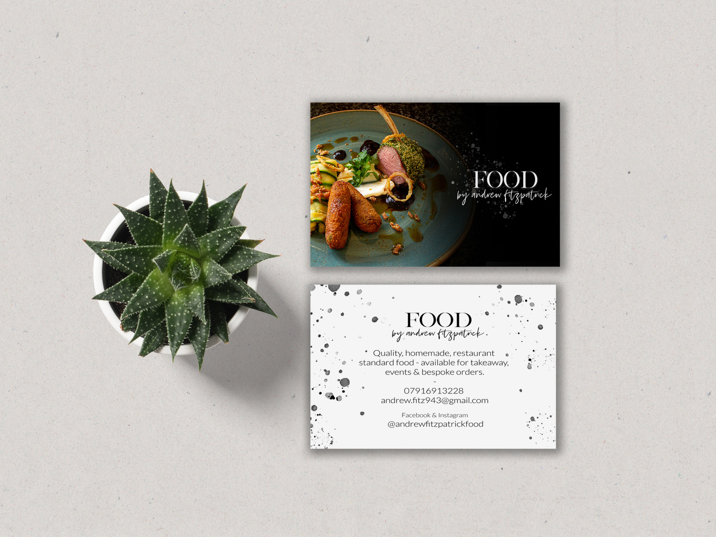Food By Andrew Fitzpatrick Business Card