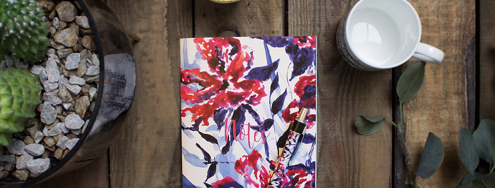 Abstract Floral Notebook