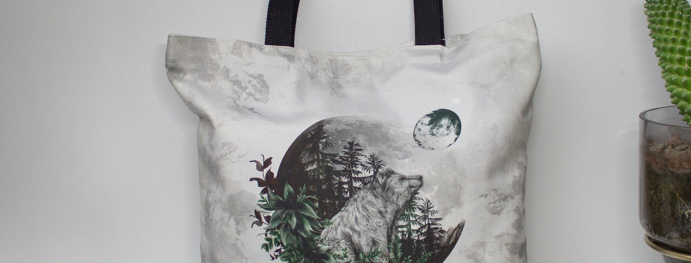 Luna Bear Tote Bag