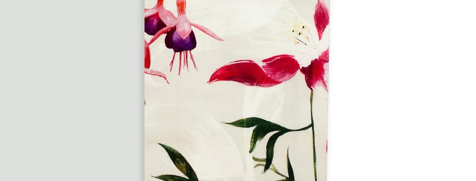 Fuchsia Floral Tea Towel