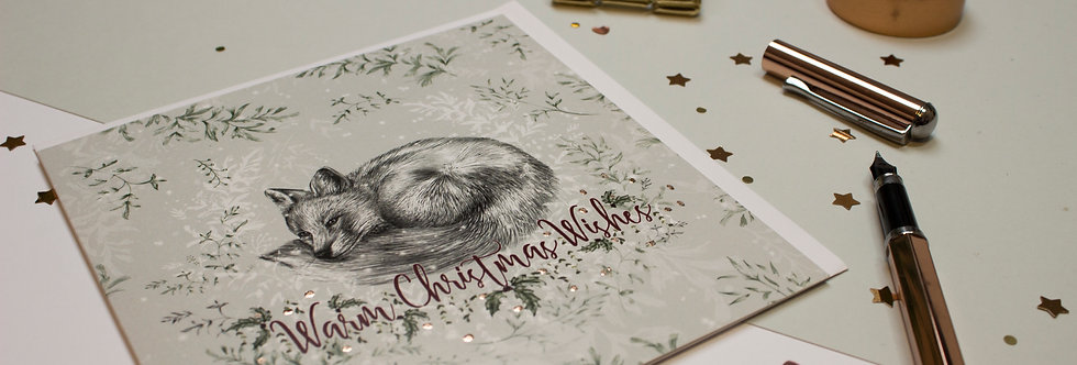 Fox & Fern Christmas Card