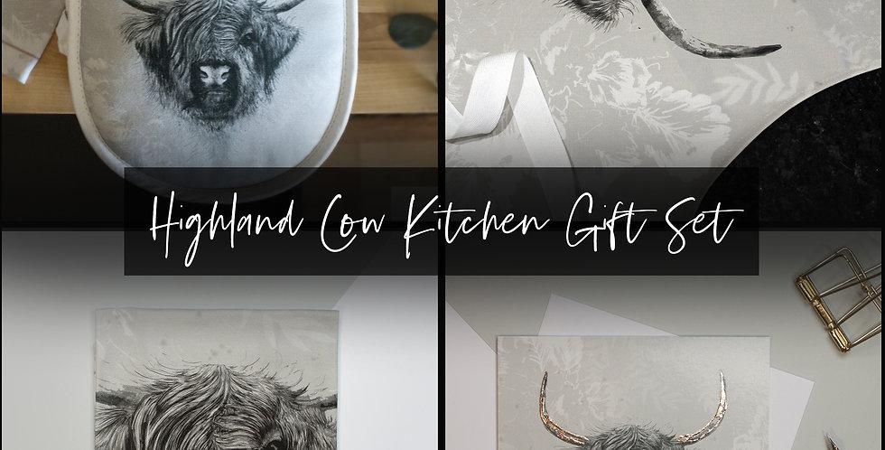 Highland Cow Kitchen Gift Set