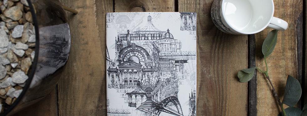 Newcastle Upon Tyne Notebook Grey