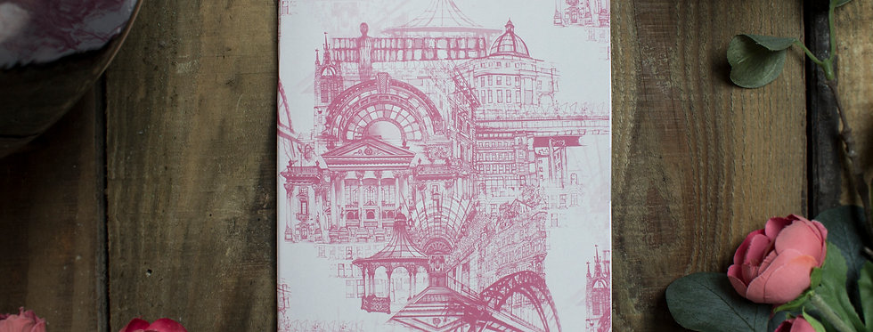Newcastle Upon Tyne Notebook Pink