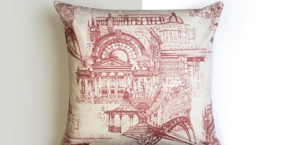 Cushion - Newcastle Upon Tyne Pink