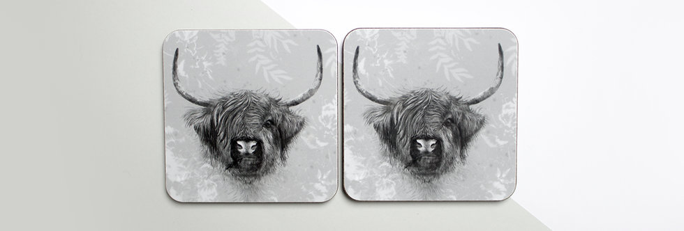 Highland Cow Coaster Set (4)