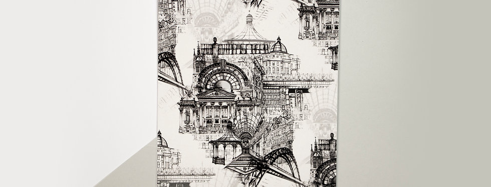 Newcastle Upon Tyne Illustrated A5 Print