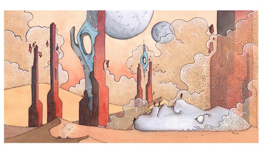 """Illustration complète """"Vertige"""""""