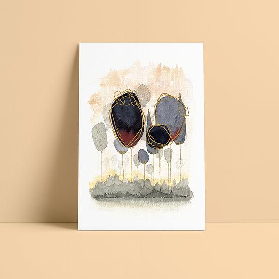 """Peinture abstraite à l'aquarelle """"Davy & Payne"""""""