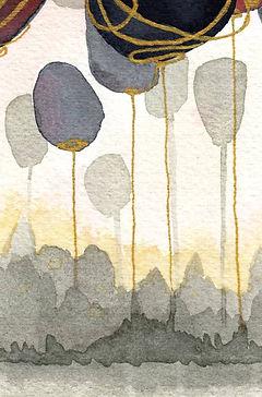Peinture abstraite à l'aquarelle
