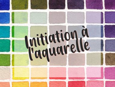Initiation à l'aquarelle cet été