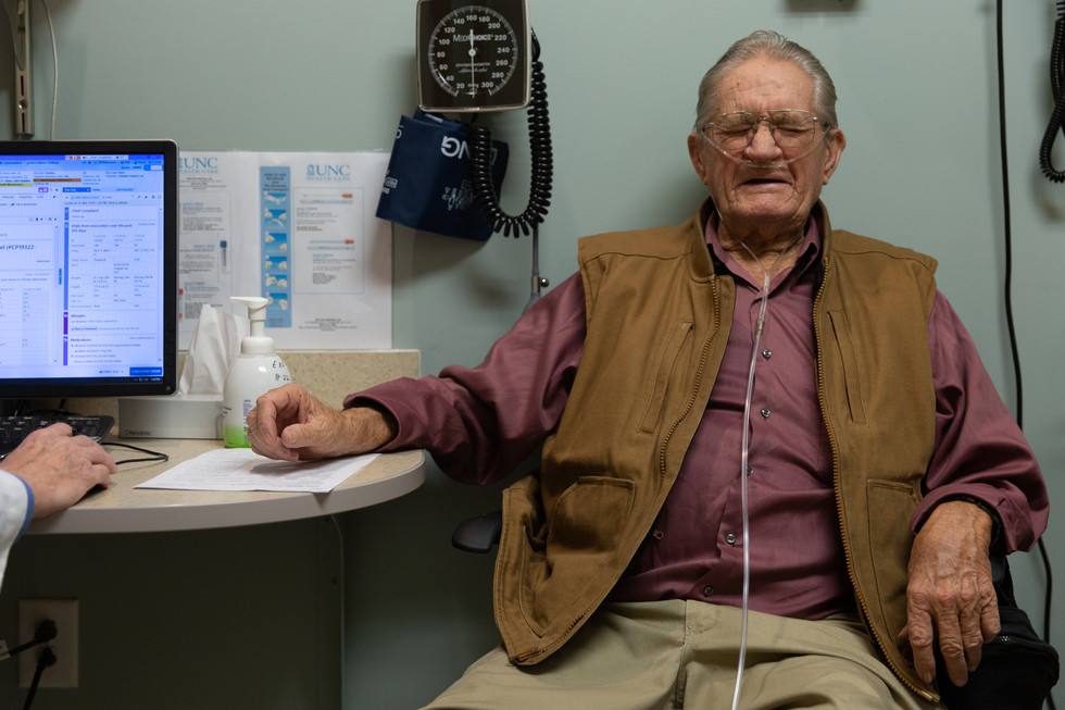 John receives news from the doctor that he must maintain his health in order to be able to undergo a medical procedure next month. He struggles with breathing and urinary problems.