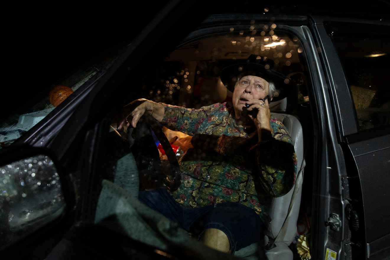 After a church event, Betty Sue takes a call in her car before going home. She primarily uses her cell phone to stay in touch with friends.