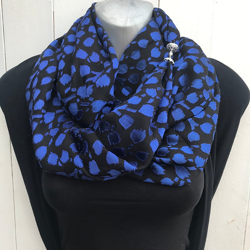 Royal blue luxury winter warmer