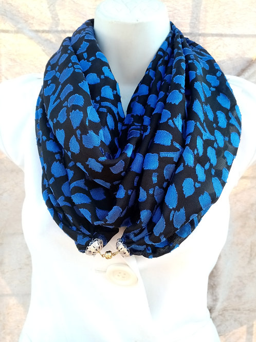 Royal blue luxury winter warmer