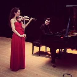 with violinist Johanna Röhrig at a recital in Hamburg