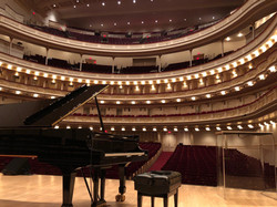 about to rehearse at Carnegie Hall, February 2019