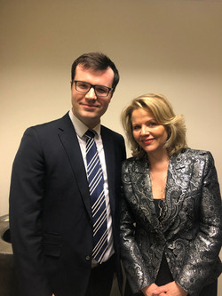with soprano Renee Fleming at Carnegie Hall