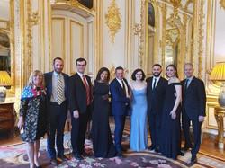 performing at the US Ambassador's Residence, Paris