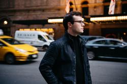 outside Carnegie Hall, New York