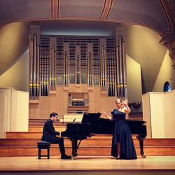 with mezzo-soprano Anne-Sofie Jensen at the Royal Academy of Music, London