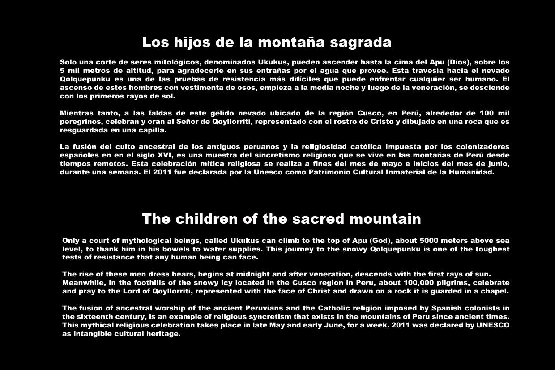 Los hijos de la montaña sagrada