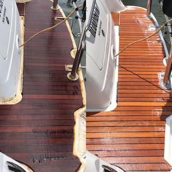 Teak cleaning and brightening